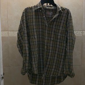 American Eagle Plaid Oversized Button Down